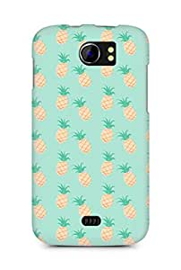 Amez designer printed 3d premium high quality back case cover for Micromax Canvas 2 A110 (green pineapples)