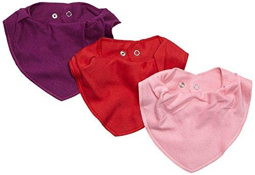 Care Baby - Mädchen Halstuch im 3er Pack, Einfarbig, Gr. One size, Rot (Red 410)