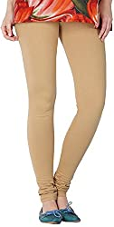 Tulip Collections Women's Cotton Slim Leggings (Tcinli0000079_L, Skin, L)