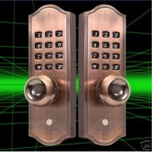 Mechanical Keyless Door Lock Nickel Finish 416a