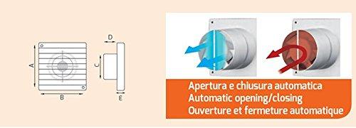 Aspiratore da Parete in Termoplastico diametro 150 mm ASP0505