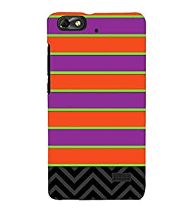 Horizontal Pattern Design 3D Hard Polycarbonate Designer Back Case Cover for Huawei Honor 4C :: Huawei G Play Mini