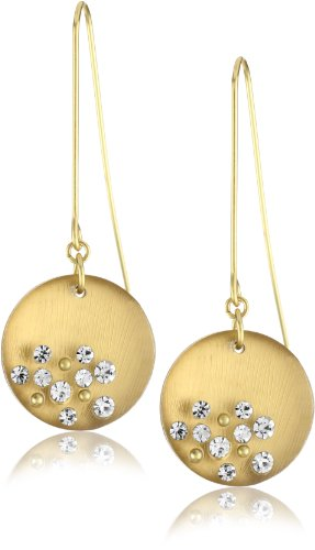 "Kenneth Cole New York ""Modern Metallic"" Gold Frosted Resin Circle Drop Earring"