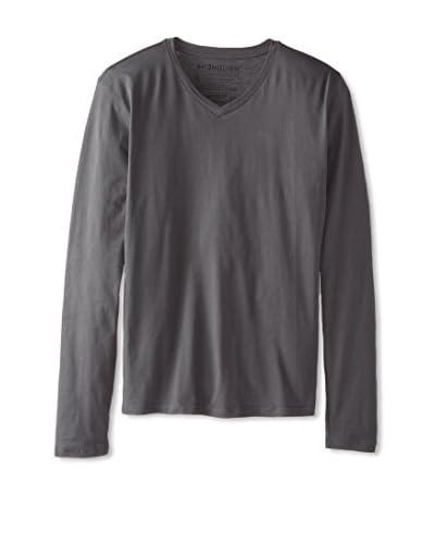 Spenglish Men's Pima Long Sleeve V-Neck Shirt