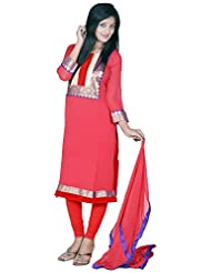 Tehzeeb Women's Faux Georgette Straight Salwar Suit - B016BH5XPW