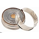 "Round Plain Pastry Cutter Set 4"". Set of 11.by Vogue"