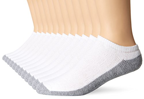 Fruit of the Loom Men's 12 Pack Full Cushion Ringspun No Show Socks, White, Shoe: 6-12 (Fruit Of The Loom No Show compare prices)