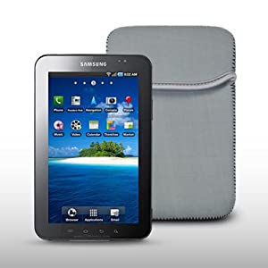 SAMSUNG GALAXY TAB GREY NEOPRENE CARRY POUCH CASE BY CELLAPOD CASES
