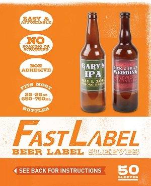 FastLabel Beer Label Sleeves 16-26oz (650-750ml)