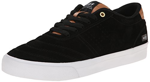 HUF Men's Galaxy Skateboarding Shoe, Black/Baseball, 7 M US