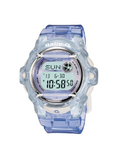 Casio BG-169R-6ER BABY-G ladies digital resin strap watch