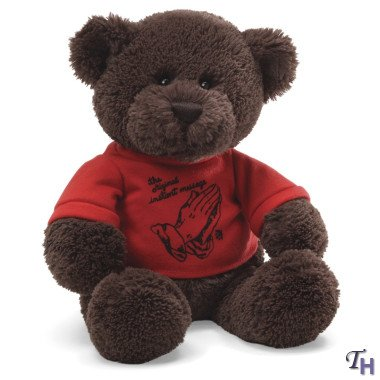 Gund Let God Work In Red T-shirt Plush Bear