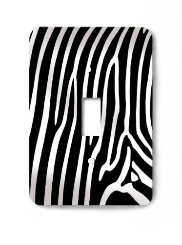 Zebra Skin Print Decorative Switchplate Cover