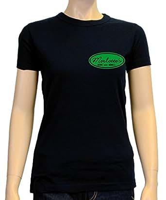 Coole-Fun-T-Shirts T-Shirt Merlotte's BAR and GRILL - true blood ! - Druck vorne + hinten ! Girly, schw-green, S, 10731_GIRLY-schw-green_GR.S