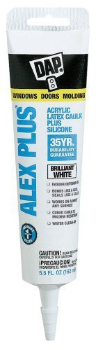 Dap 18128 Alex Plus Acrylic Latex Caulk Plus Silicone 5.5-Ounce