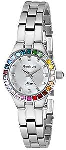 Armitron Women's 75/5148SVSVRB Swarovski Crystal-Accented Silver-Tone Watch