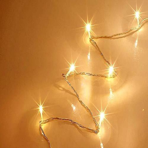 Lichterkette 80 LED, warmweiss, 21,85 m, für innen und außen, Christbaumkette, Lichterkette Weihnachten, Weihnachtsbeleuchtung