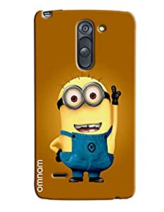 Omanm Printed Minions with Smile and upper hand for LG G3 Stylus