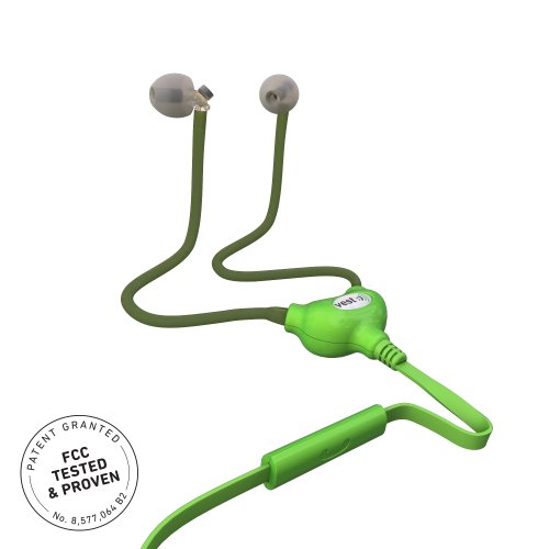 Vesttube - Anti Radiation Air Tube Headset With 3.5 Mm Jack Plug - Green