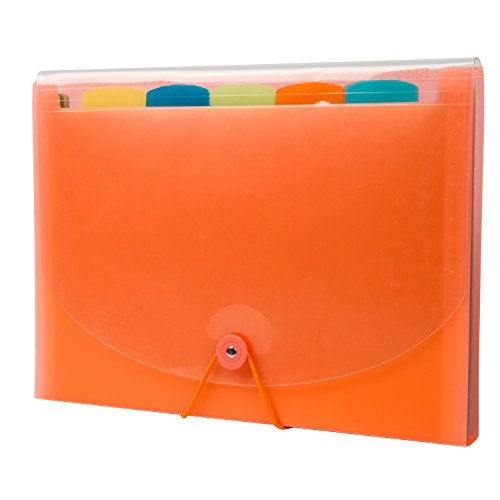 Expandable Portable Hand-Held Accordion File Document Folder Cute Student File Organizer A4 and Letter Size 11 Pockets - Candy Series (Orange) (Numbered Candy compare prices)