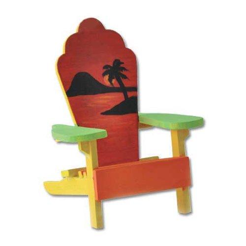 Dollhouse Miniature Sunset Adirondack Chair