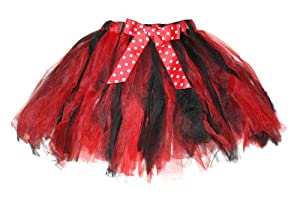 Red Black Polka Dot Tutu Skirt 2-8 yr 2T-10/12 Girls Ladybug Halloween Costume
