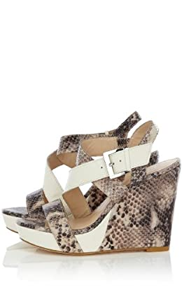 Strappy Snake and Lizard Wedge