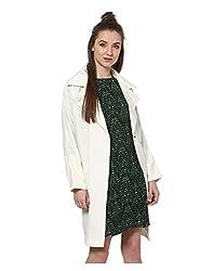 Yepme Cheryl Draped Jacket - Ecru -- YPMJACKT5161_M