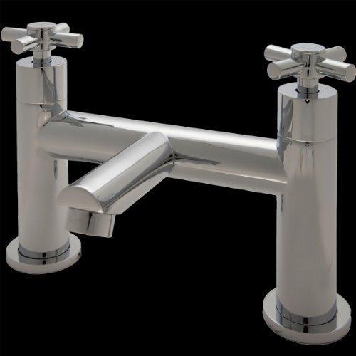 Arena Chrome Bath Mixer Taps 2 Hole Designer Modern Traditional Bathroom Set