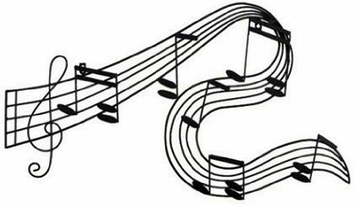 Abstract Music Notes Art: Abstract Musical Notes Piano Jazz Wall Artwork Art $39.99