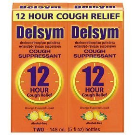 Delsym Cough Suppressant - 2 Pack, 5 ounces Boxes