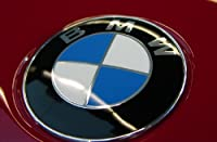 Bmw Car Glossy Chrome Logo Hood 3 5 7 Series Badge 82mm Emblem 2 Pins