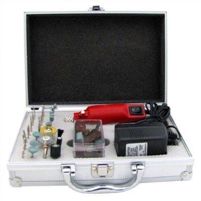 Hand Held Rotary Tool Mini Grinder Mini Polish Tool (Complete 61 Piece Hand Grinder Kit)
