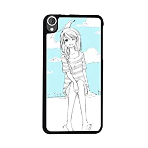 Printrose 2D HTC Desire 820 Back Cover Printed High Quality Designer Case and Covers for HTC Desire 820 Lovely Girl