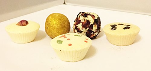 santa-5-truffle-gift-box-5-piece-coffee-kisses-truffle-rose-bath-truffle-jolly-holly-truffle-silent-