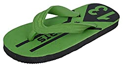 R V Footwear Kids Green Rubber House Slippers - 10 UK