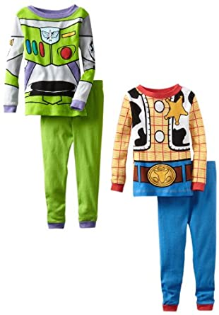 Disney Little Boys' Watch Out Here Comes The Sherriff And Buzz Lightyear 2 Piece Set, Multi, 4T