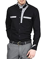 Dazzio Men's Slim Fit Cotton Casual Shirt - B012X4B2XY