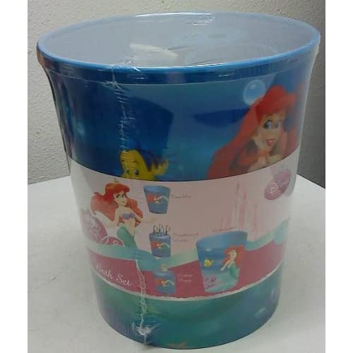 4 pc bath set disney mermaid ariel