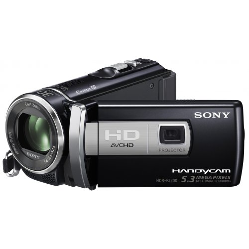 Sony Handycam PJ200 Full HD Camcorder with Built in Projector - Black (5.3MP, 25x Optical Zoom) 2.7 inch LCD