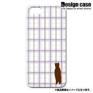 iphone5 ハード ケース カバー ジャケット/1087_チェック猫シルエットピンク/CR