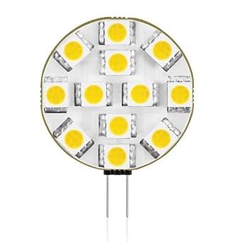 Lampadina a LED Bispina G4 da Parlat con 12 luci SMD 5050 LED tonalitá di luce bianco caldo (12 ...