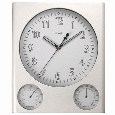 Haven Thermometer and Hygrometer Wall Clock by Kirch