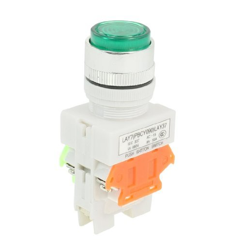 Dimart 660Vac 10A 1No 1Nc Dpst Green Momentary Push Button Switch W Ac 220V Led Lamp