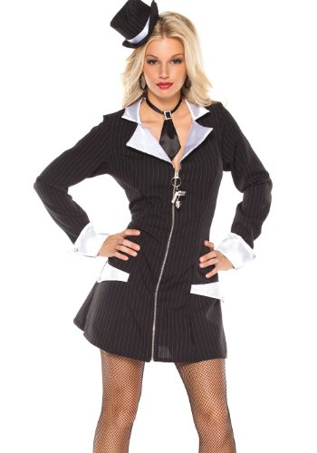 Coquette Women's Gangster Girl Costume