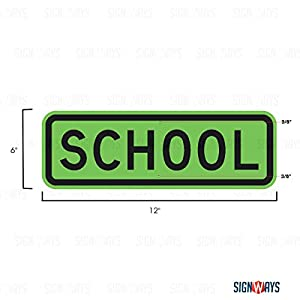 School Signs, School Sign, S4-3P, 3M Quality Diamond Grade Reflective, 12