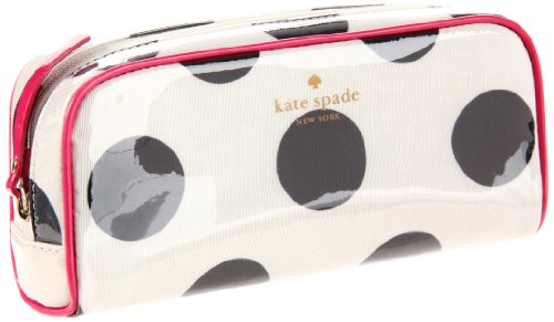 Kate Spade New York  La Pavillion Small Henrietta Cosmetic Case,Black/Cream,One Size