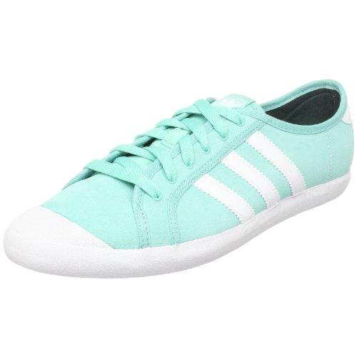adidas Originals Women's Adria Lo Sleek Sneaker,Radiant Aqua/White/Deepest Green,9 M US
