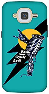 The Racoon Grip Rock star hard plastic printed back case/cover for Samsung Galaxy J2 (2016)