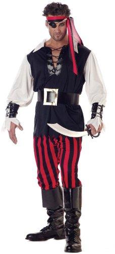 California Costumes Men's Adult-Cutthroat Pirate, Black/Red/White, L (42-44) Costume